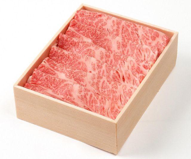 木箱に入った松阪牛しゃぶしゃぶ用(肩)